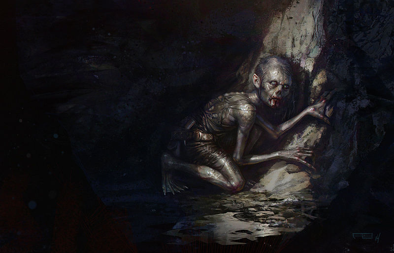 Gollum_s_journey_commences_by_Frederic_Bennett