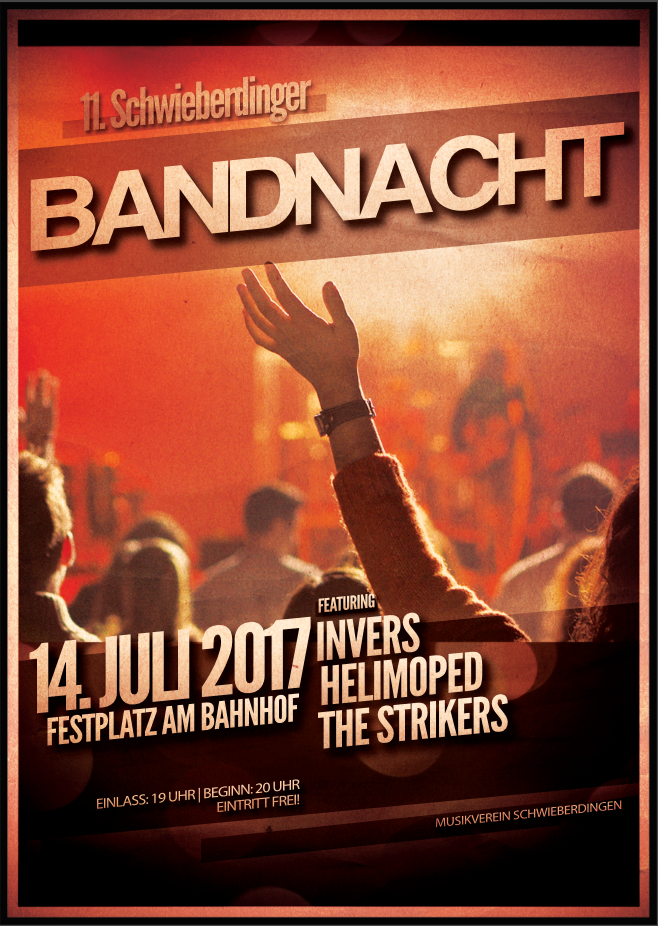 "Bandnacht 2017 - Mit ""Invers"", ""Helimoped"" und ""The Strikers"""