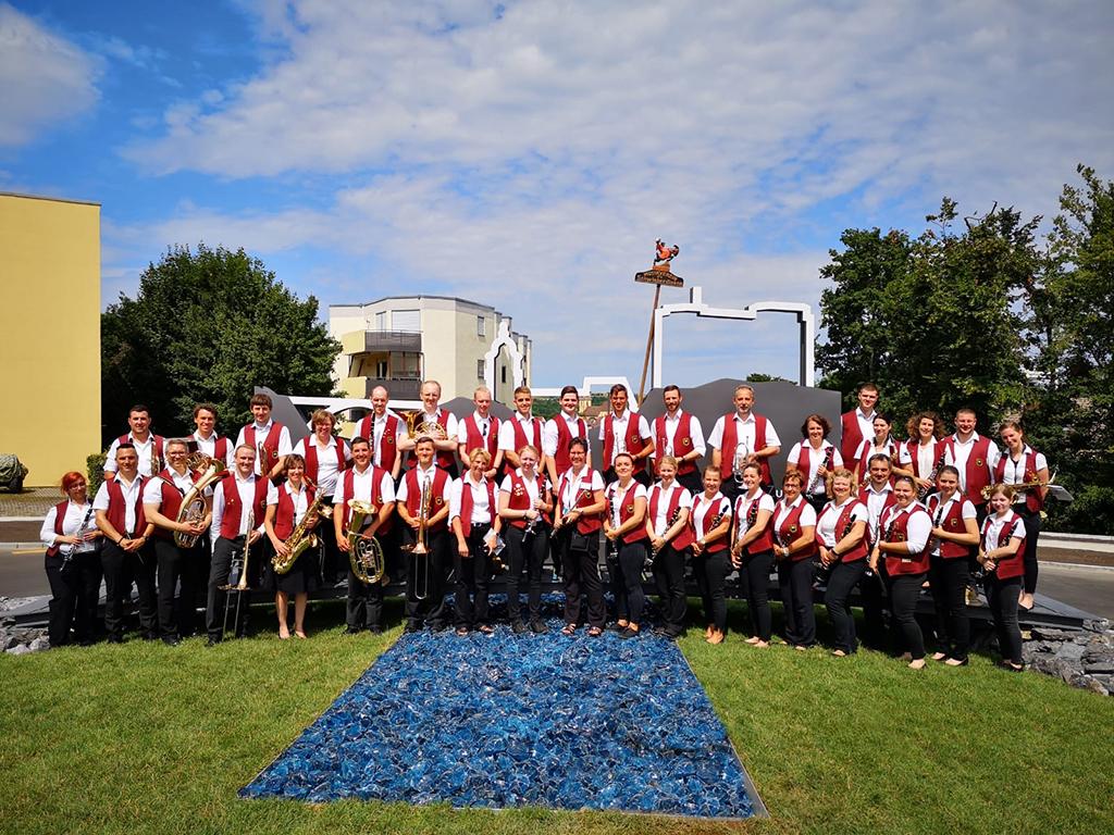 Das Blasorchester bei der Eröffnung der Stuttgarter Straße